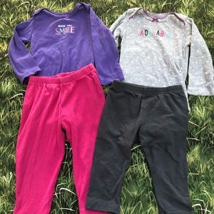 Two baby outfits size 12 M